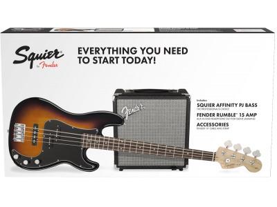 Squier By Fender Precision Bass® PJ Pack, R15v3 BSB 230V