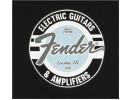Fender Guitar and Amp Logo Men's Tee, Black/Daphne Blue, XL