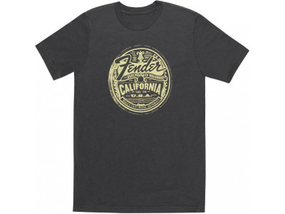 Fender Cali Medallion Men's Tee, Gray, XL