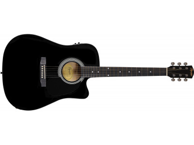Squier By Fender SA-105CE Black