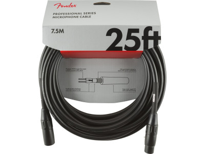 Fender PRIBOR Professional Series Microphone Cable, 25', Black