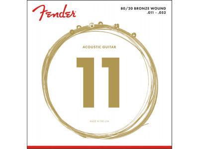 Fender PRIBOR 80/20 Bronze Acoustic Strings. Ball End. 70CL .011-.050 Gauges