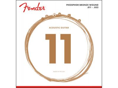 Fender PRIBOR Phosphor Bronze Acoustic Guitar Strings, Ball End, 60CL .011-.052 Gauges