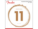 Fender PRIBOR Phosphor Bronze Acoustic Guitar Strings, Ball End, 60CL .011-.052 Gauges