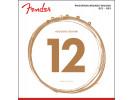 Fender PRIBOR Phosphor Bronze Acoustic Guitar Strings, Ball End, 60L .012-.053 Gauges