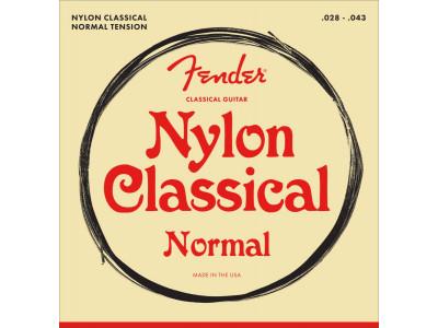 Fender PRIBOR Nylon Acoustic Strings. 100 Clear/Silver. Tie End. Gauges .028-.043