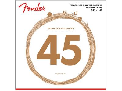 Fender PRIBOR 7060 Acoustic Bass Strings, Phosphor Bronze, .45-.100 Gauges