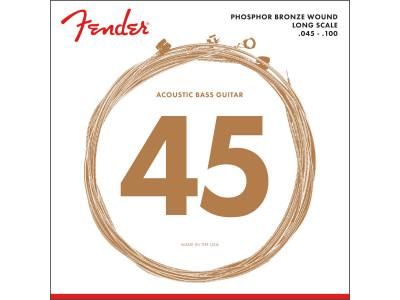Fender PRIBOR 8060 Acoustic Bass Strings, Phosphor Bronze, Long Scale, .45-.100 Gauges