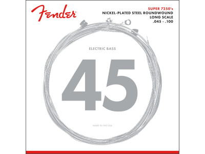 Fender PRIBOR 7250 Bass Strings, Nickel Plated Steel, Long Scale, 7250ML .045-.100 Gauges