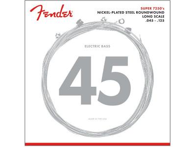 Fender PRIBOR 7250 Bass Strings, Nickel Plated Steel, Long Scale, 7250-5M .045-.125 Gauges