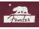 Fender Burgundy Bear Unisex T-Shirt, XXL