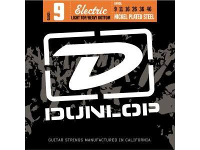 Jim Dunlop DEN0946 EL-NKL 9'S LT/HV 6/Set