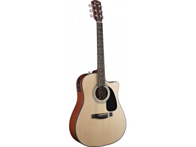 Fender CD-100 CE. Natural. Cutaway. Spruce Top. Mahog' Back/Sides. Satin Finish. Fishman