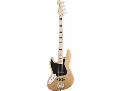 Squier By Fender Vintage Modified Jazz Bass '70s. Left Handed. Maple Fretboard. Natural