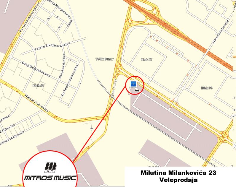 milutina milankovica novi beograd mapa Prodaja muzičkih instrumenata Beograd, Novi Sad, Niš milutina milankovica novi beograd mapa